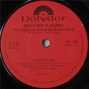 Paul Evans - Hello, This Is Joannie (The Telephone Answering Machine Song) FLAC